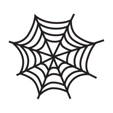cobweb: silhouette of a cobweb Illustration