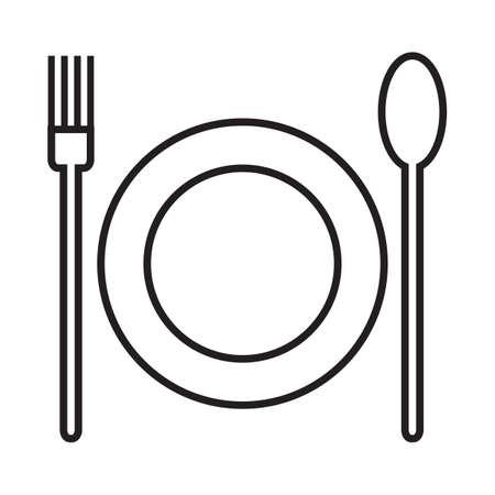 eating utensil: utensils with plate