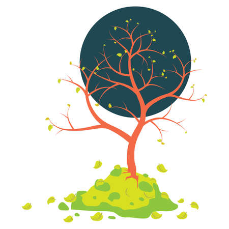 fast kahlen Baum