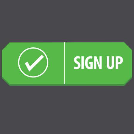 web: sign up web button Illustration