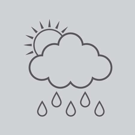 rain cloud: sun and rain cloud