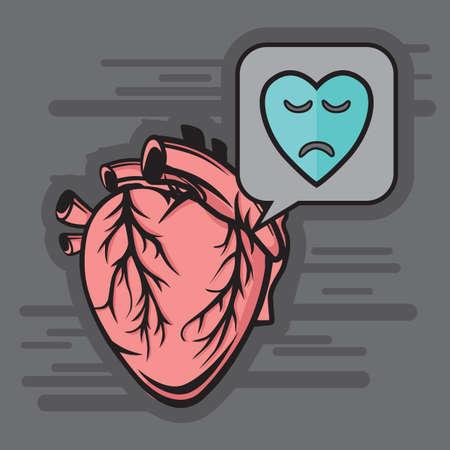 sad heart: sad heart