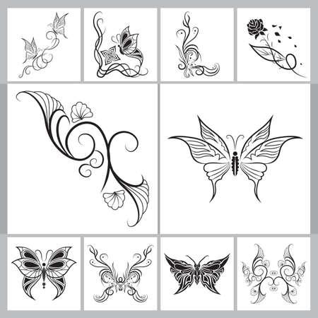 Collection de tatouages ??décoratifs Banque d'images - 53002731