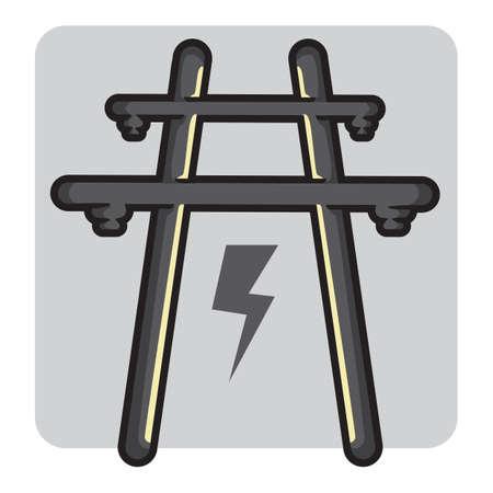 power transformer: power station Illustration