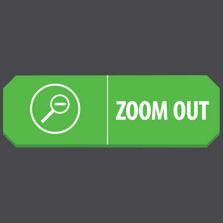 zoom out: zoom out web button Illustration