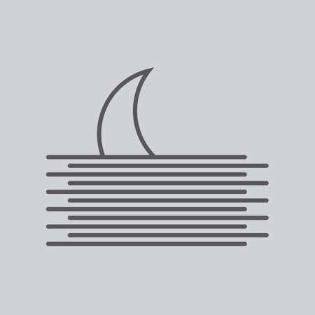 crescent: crescent and waves Illustration