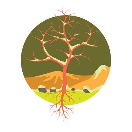 winter tree: Bare winter tree