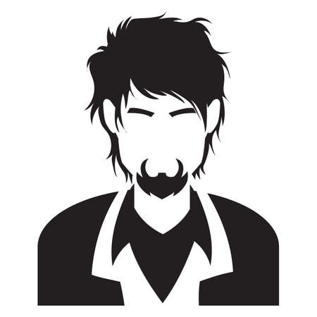 smart man: faceless man in smart casual wear Illustration