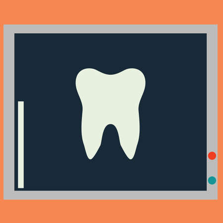 x rays: tooth x ray Illustration