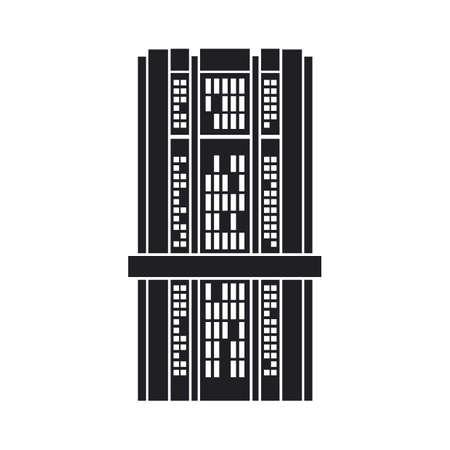 scraper: silhouette of building