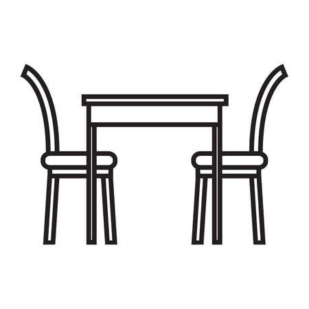 식탁과 의자 일러스트