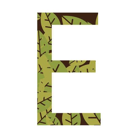 letter e: letter e Illustration