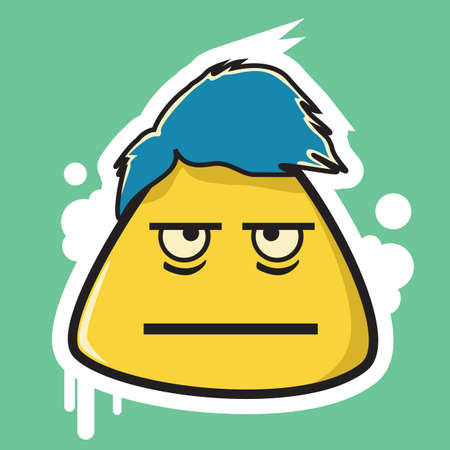 expressionless: expressionless emoticon Illustration