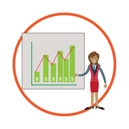 business woman: woman in a business presentation