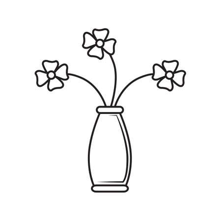 vase of flowers: vase with decorative flowers