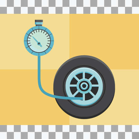 air gauge: tyre pressure gauge