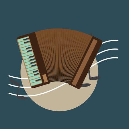 accordeon Stock Illustratie