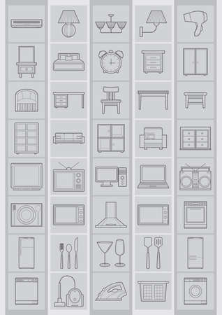 pc icon: household electrical items Illustration