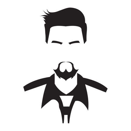 faceless man in smart casual clothing Illustration