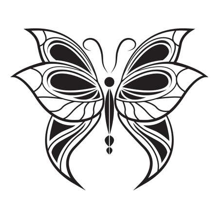 Tatouage de papillon Banque d'images - 53007782