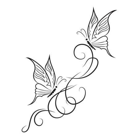 butterfly tattoo Illustration