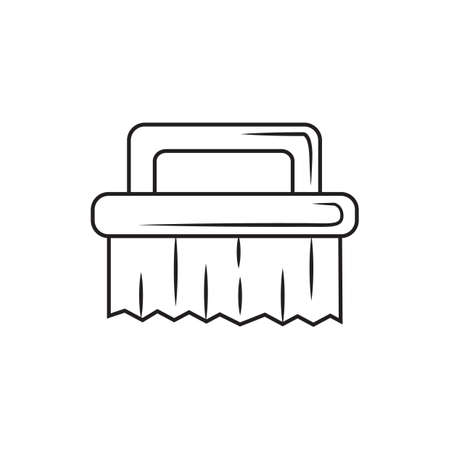 scrub: scrub brush Illustration