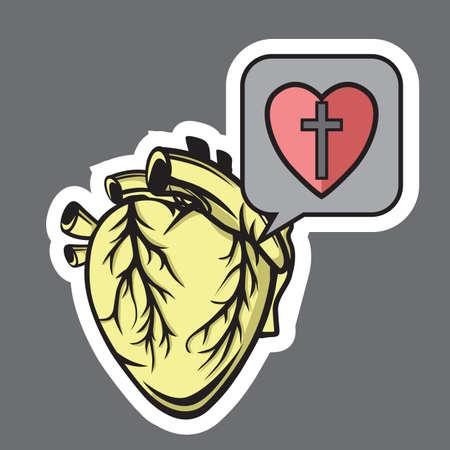 care: heart care Illustration