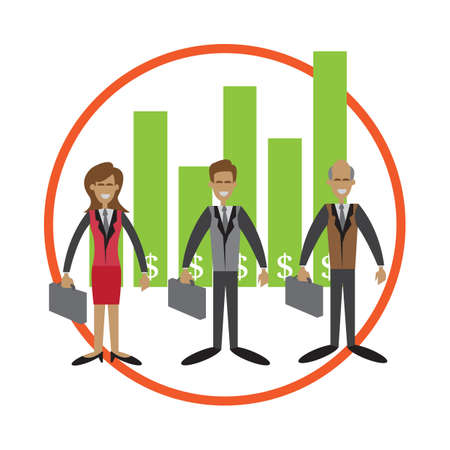 ranking: business sales ranking chart Illustration