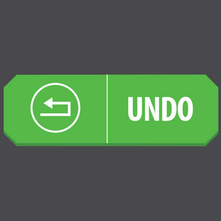 undo: undo web button Illustration