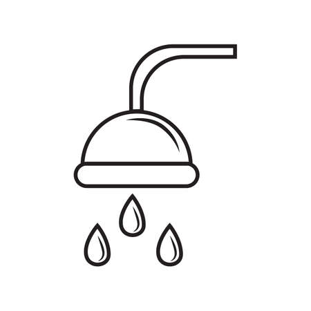 drops of water: showerhead with water drops Illustration