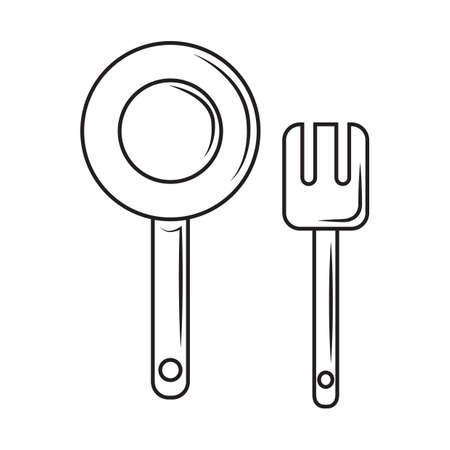 spatula: cooking pan and spatula