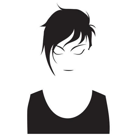 Mujer con los ojos cerrados