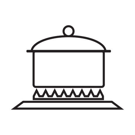 cooking pot: cooking pot on stove