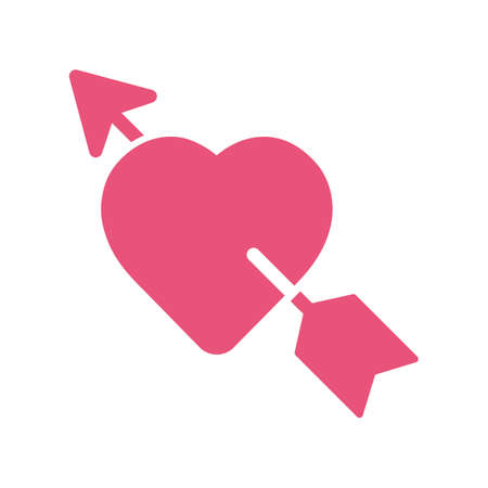 lovestruck: heart with arrow