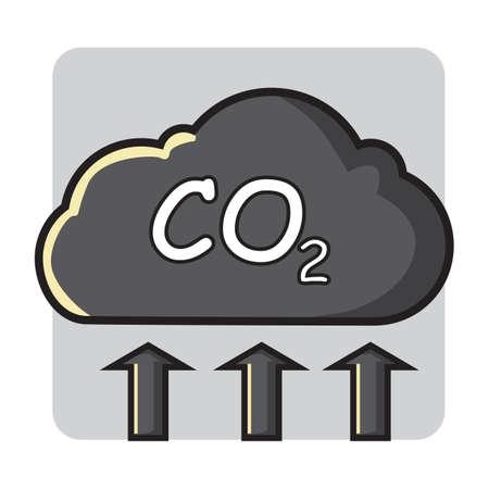 dioxido de carbono: emisiones de dióxido de carbono Vectores