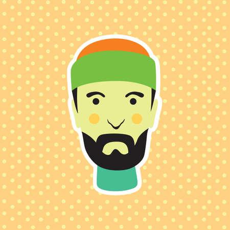 beanie: bearded man with beanie