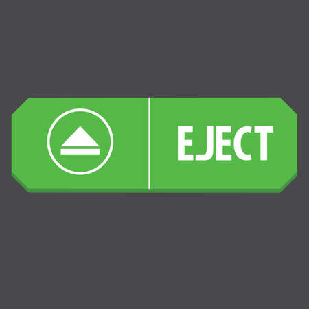eject: eject web button Illustration