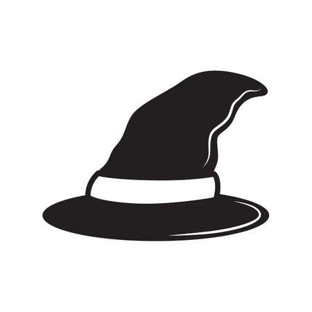 sombrero de mago: silueta de un sombrero de mago