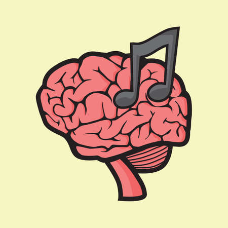 music therapy: brain music therapy concept