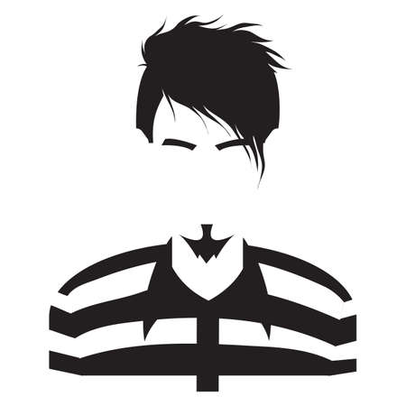 brows: faceless man in stripes Illustration