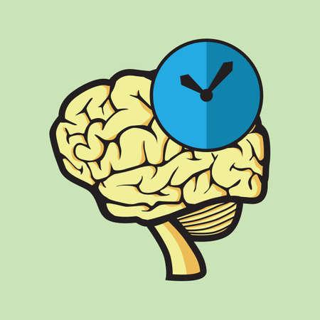 menselijke circadiane biologische klok begrip Stock Illustratie