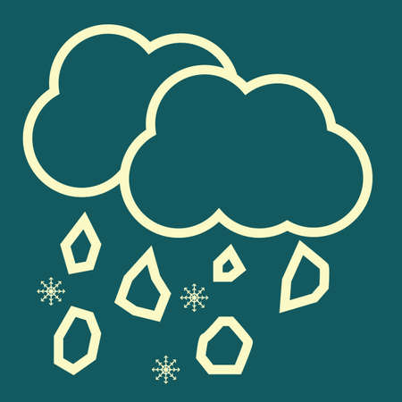 blizzards: clouds and snowflake