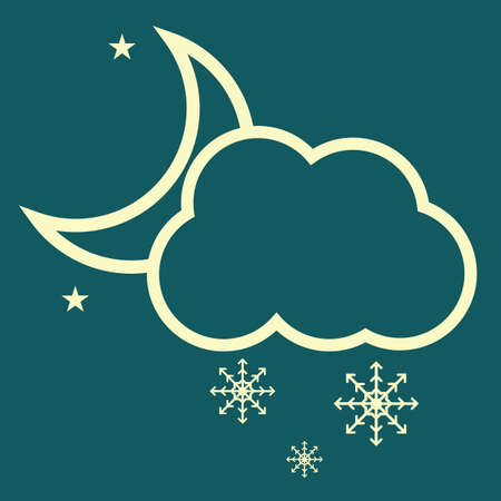 crescent: snow cloud and crescent moon