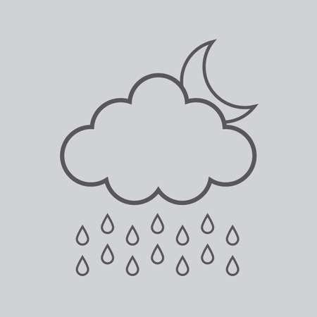 rain cloud: rain cloud and moon