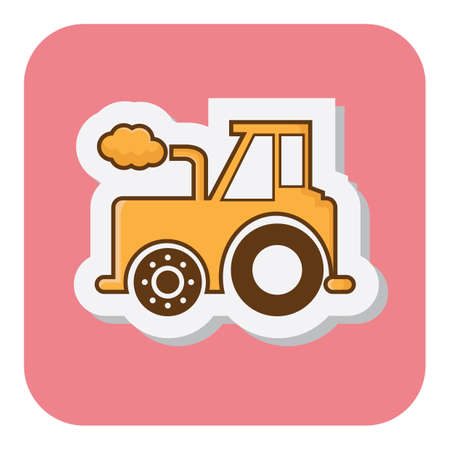 agricultural: agricultural tractor Illustration