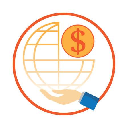 international sales: hand holding global sales concept