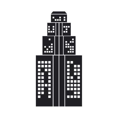 sky scraper: silhouette of building