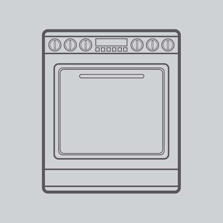 electric stove: electric stove Illustration