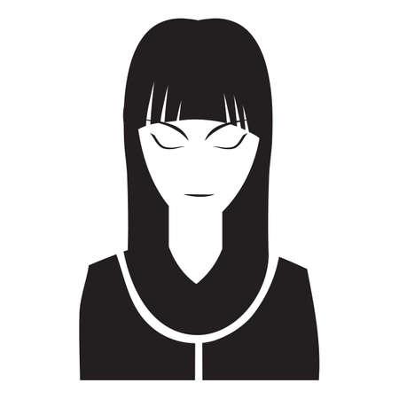 ojos cerrados: Mujer con los ojos cerrados Vectores