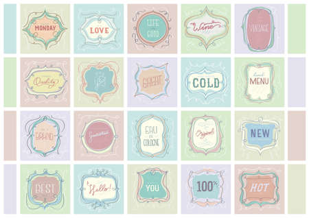 new and improved: collection of vintage labels